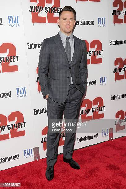 Actor Channing Tatum attends the New York screening of 22 Jump Street hosted by FIJI Water at AMC Lincoln Square Theater on June 4 2014 in New York...