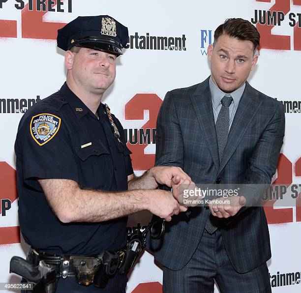 Actor Channing Tatum attends the New York screening of 22 Jump Street at AMC Lincoln Square Theater on June 4 2014 in New York City