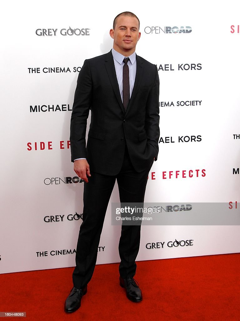 Actor Channing Tatum attends the Open Road, The Cinema Society & Michael Kors premiere of 'Side Effects' at AMC Loews Lincoln Square on January 31, 2013 in New York City.