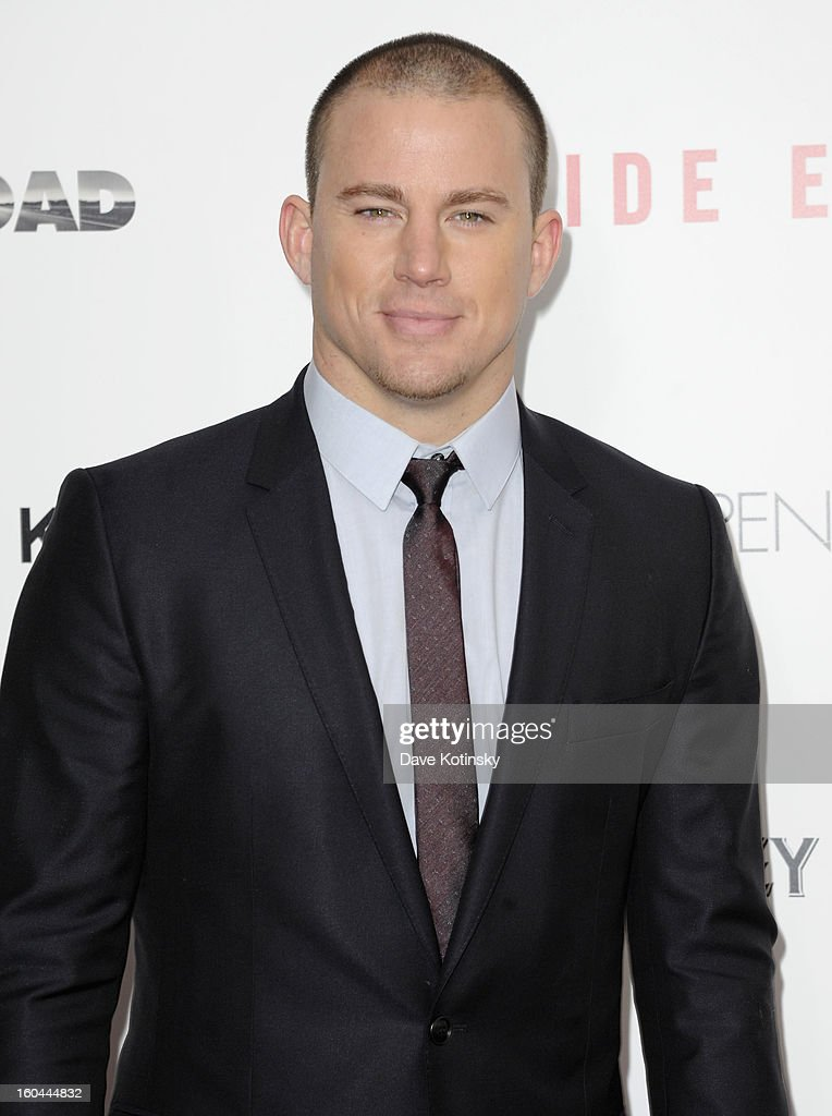 Actor Channing Tatum attends the premiere of 'Side Effects' hosted by Open Road with The Cinema Society and Michael Kors at AMC Lincoln Square Theater on January 31, 2013 in New York City.