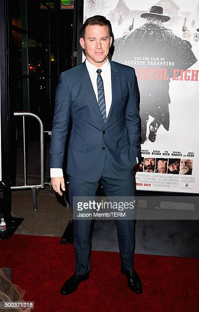 Actor Channing Tatum attends the Premiere of The Weinstein Company's 'The Hateful Eight' at ArcLight Cinemas Cinerama Dome on December 7 2015 in...