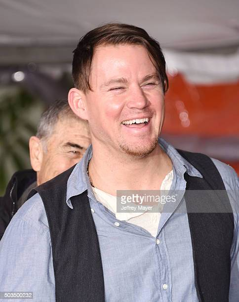 Actor Channing Tatum attends the Quentin Tarantino Hand And Footprint Ceremony at the TCL Chinese Theater on January 5 2016 in Hollywood California