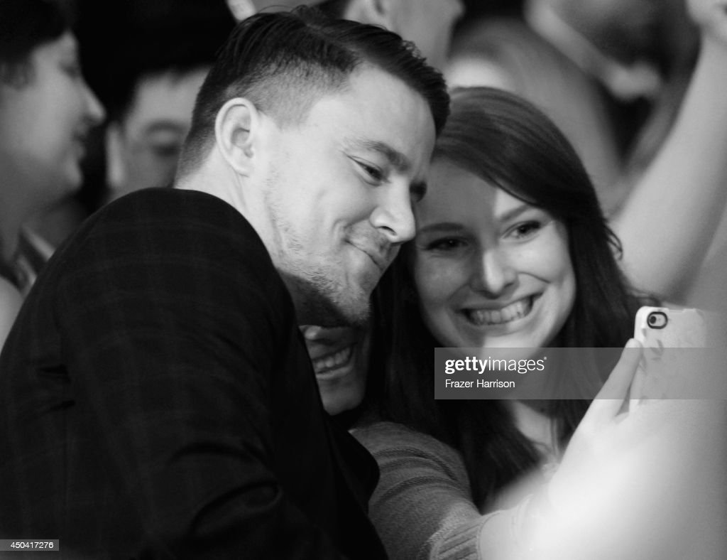 Actor Channing Tatum meets fans at the Premiere Of Columbia Pictures' '22 Jump Street' at Regency Village Theatre on June 10, 2014 in Westwood, California.