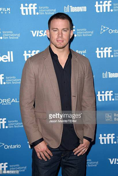 Actor Channing Tatum poses at Foxcatcher Press Conference during the 2014 Toronto International Film Festival at TIFF Bell Lightbox on September 8...