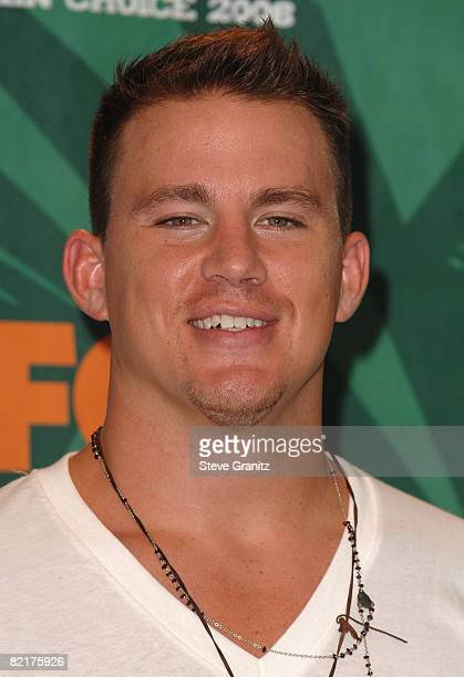 Actor Channing Tatum poses during the 2008 Teen Choice Awards at Gibson Amphitheater on August 3 2008 in Los Angeles California