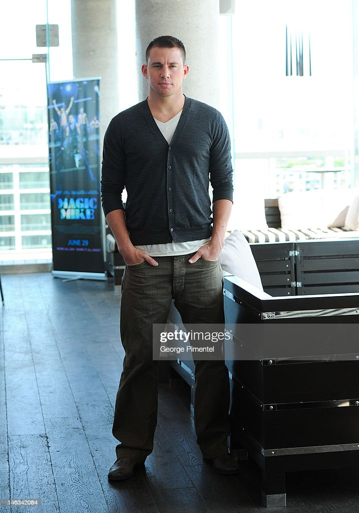 Actor Channing Tatum poses for a portrait at the press junket for his new film 'Magic Mike' at the Thompson Hotel on June 14, 2012 in Toronto, Canada.