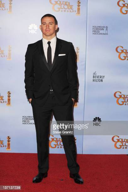 Actor Channing Tatum poses in the press room at the 69th Annual Golden Globe Awards held at the Beverly Hilton Hotel on January 15 2012 in Beverly...