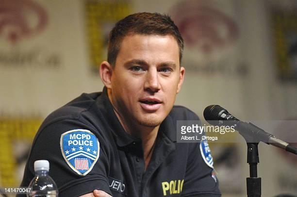 Actor Channing Tatum promotes the Sony film '21 Jumpstreet' at the 2012 WonderCon Day 1 held at Anaheim Convention Center on March 16 2012 in Anaheim...