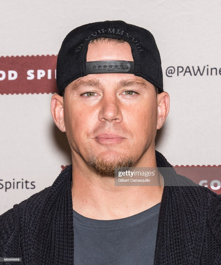 Actor Channing Tatum signs bottles of Born And Bred Vodka on June 27, 2018 in Hummelstown, Pennsylvania.