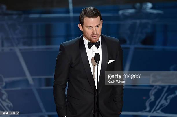 Actor Channing Tatum speaks onstage during the 87th Annual Academy Awards at Dolby Theatre on February 22 2015 in Hollywood California