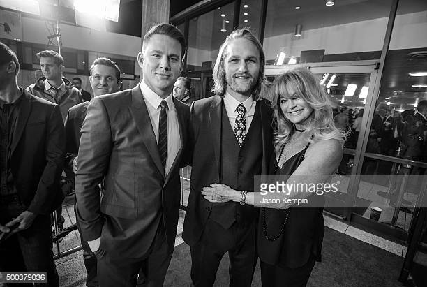 Actor Channing Tatum Wyatt Russell and actress Goldie Hawn attend the world premiere of the Weinstein Company's 'The Hateful Eight' at ArcLight...