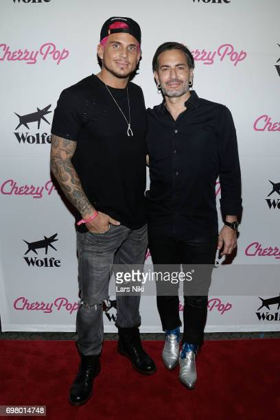Actor Char Defrancesco and Fashion Designer Marc Jacobs attend the Cherry Pop Premiere at OutCinema Presented by NewFest and NYC Pride at SVA Theater...