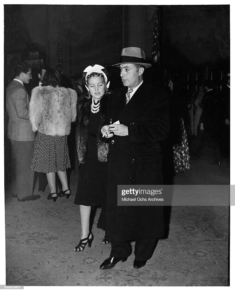 Actor Charles Boyer and his wife actress Pat Paterson attend an event in Los Angeles, California.