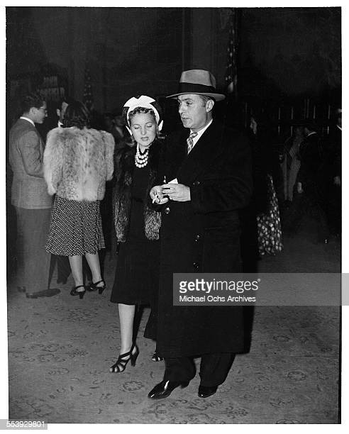 Actor Charles Boyer and his wife actress Pat Paterson attend an event in Los Angeles California