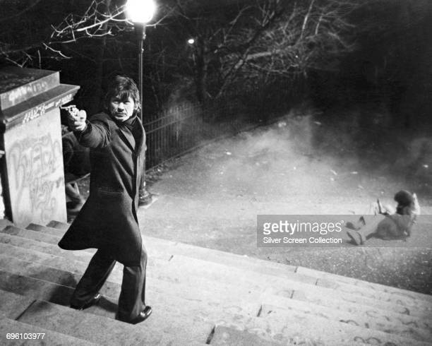 Actor Charles Bronson as Paul Kersey in the action film 'Death Wish' 1974