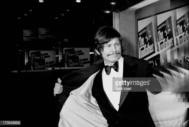 Actor Charles Bronson attending the premiere of the Godfather on March 141972 in New York New york