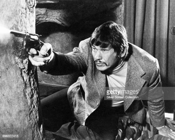 Actor Charles Bronson in a still from the film 'The Stone Killer' 1973