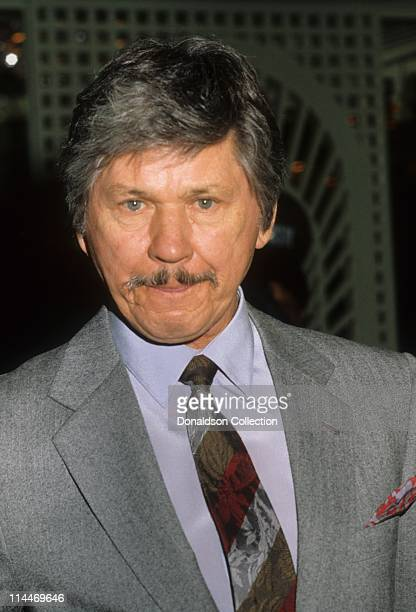 Actor Charles Bronson poses for a portrait in circa 1985 in Los Angeles California