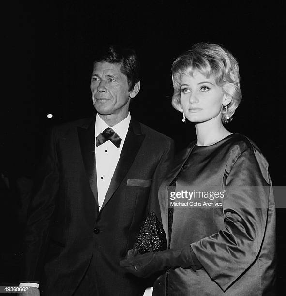Actor Charles Bronson with wife attend a party in Los Angeles California