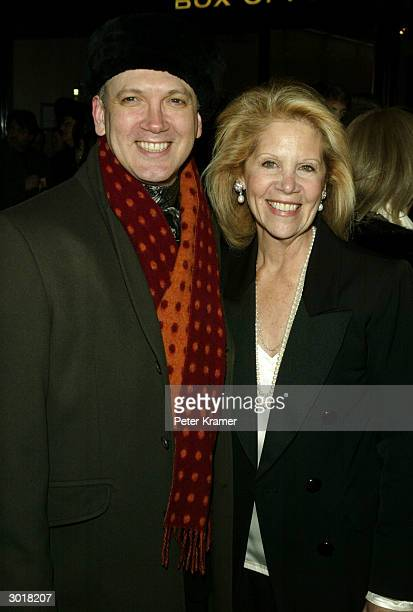 Actor Charles Busch and producer Daryl Roth attend the play opening of Fiddler on the Roof February 26 2004 in New York City