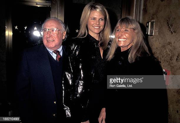 Actor Charles Busch model Christie Brinkley and mother Marge Brinkley attend Eartha Kitt's Cabaret Concert Performance on January 4 1996 at Cafe...