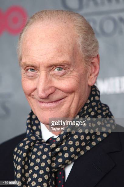 Actor Charles Dance attends the 'Game Of Thrones' Season 4 premiere at Avery Fisher Hall Lincoln Center on March 18 2014 in New York City