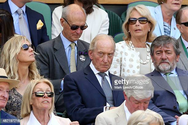 Actor Charles Dance in the Royal box on day eleven of the Wimbledon Lawn Tennis Championships at the All England Lawn Tennis and Croquet Club on July...