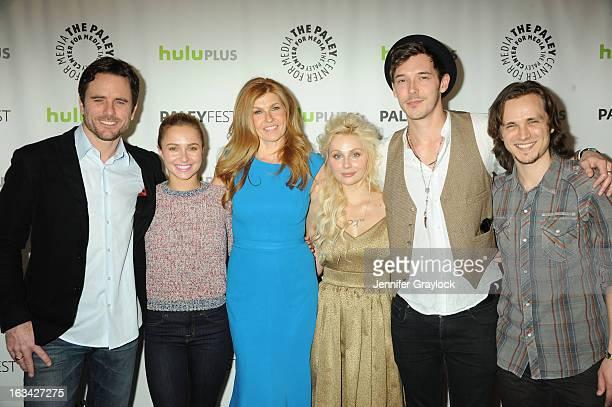 Actor Charles Esten, Actress Hayden Panettiere, Actress Connie Britton, Actress Clare Bowen, Actor Sam Palladio and Actor Jonathan Jackson attend the...