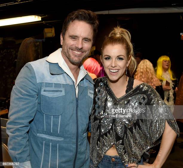 Actor Charles Esten and musician Lindsay Ell the Nashville Disco Party Benefiting Alzheimer's Association on June 4 2017 in Nashville Tennessee