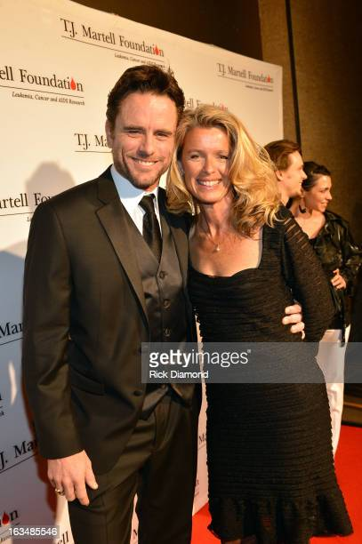 Actor Charles Esten and Patty Hanson attend TJ Martell Honors Gala at Hutton Hotel on March 10 2013 in Nashville Tennessee