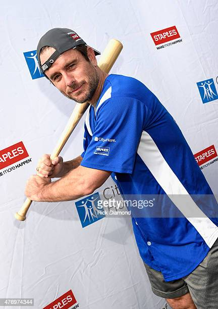 Actor Charles Esten steps up to strike out cancer at City of Hope's 25th Annual Celebrity Softball Game at First Tennessee Park on June 13 2015 in...