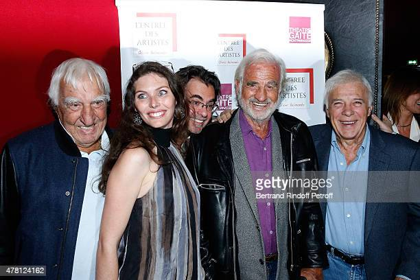 Actor Charles Gerard Director of the school 'L'Entree Des Artistes' Olivier Belmondo with his wife Audrey his Oncle Sponsor of the school 'L'Entree...