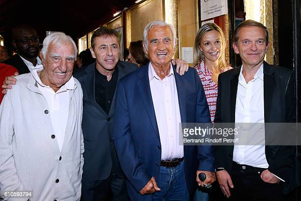 Actor Charles Gerard Director of the Theater LouisMichel Colla actor JeanPaul Belmondo Doctor Frederic Saldmann and his wife Marie attend the...