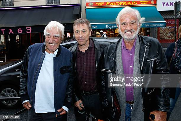 Actor Charles Gerard Director of the Theater LouisMichel Colla and Actor JeanPaul Belmondo attend the 2015 Public performance of 'L'Entree Des...