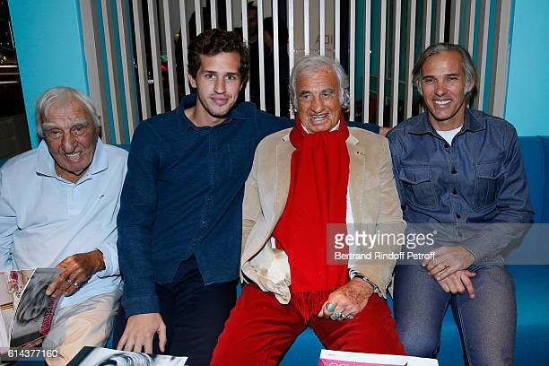 Actor Charles Gerard Victor Belmondo actor JeanPaul Belmondo and his son Paul Belmondo attend Luana Belmondo presents her book Mes Recettes Bonne...