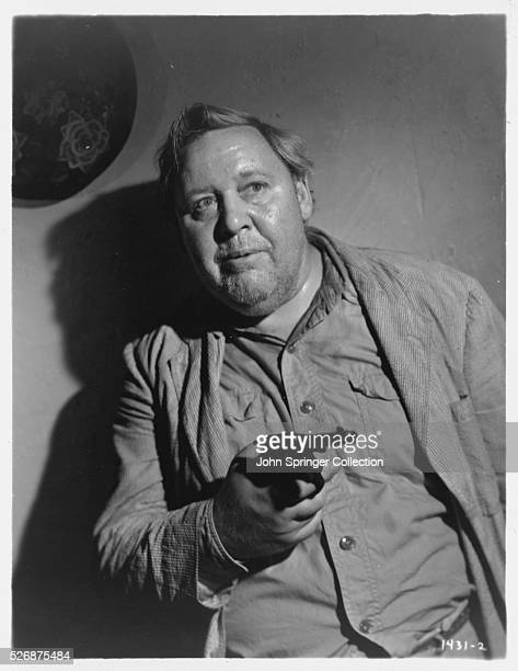 Actor Charles Laughton Aiming Gun