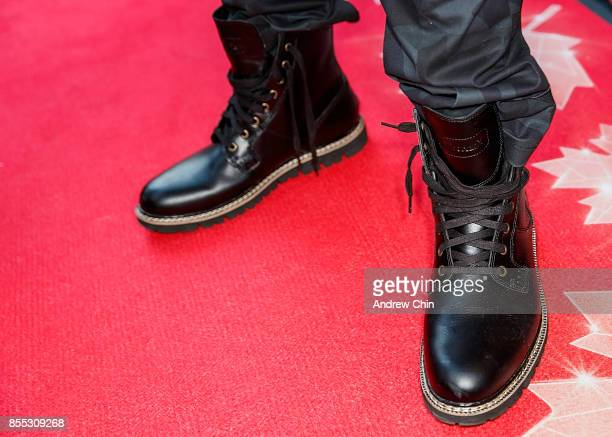 Actor Charles Melton shoe detail attends the Opening Night Gala Red Carpet during the 36th Annual Vancouver International Film Festival at The Centre...