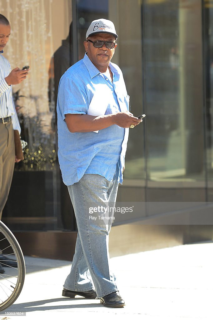 Actor Charles S. Dutton leaves his Soho hotel on October 5, 2012 in New York City.