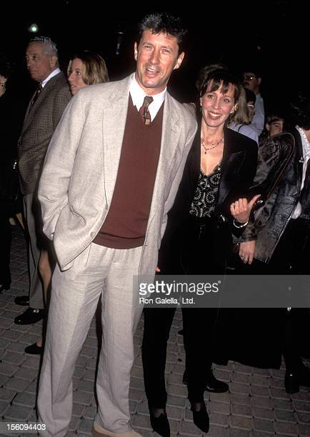 Actor Charles Shaughnessy and wife Susan Fallender attend 'The Beautician and the Beast' Hollywood Premiere on February 3 1997 at Paramount Theatre...