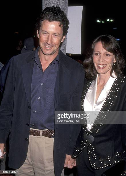 Actor Charles Shaughnessy and wife Susan Fallender attend the 'Pleasantville' Westwood Premiere on October 19 1998 at Mann National Theatre in...