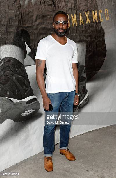 Actor Charles Venn attends the PUMA x McQ debut AW14 collection launch at Factory 7 on July 16 2014 in London England