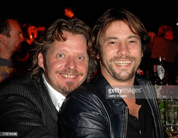 Actor Charley Boorman and musician Jay Kay attend the Long Way Down UNICEF Charity Party in Battersea Park November 8 2007 in London England