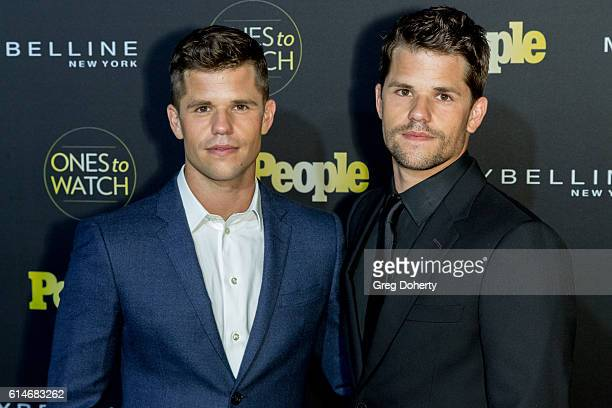 Actor Charlie and Max Carver arrive at the People's 'Ones To Watch' party at EP LP on October 13 2016 in West Hollywood California