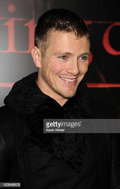 Actor Charlie Bewley arrives at the premiere of Summit Entertainment's The Twilight Saga Breaking Dawn Part 1 at Nokia Theatre LA Live on November 14...