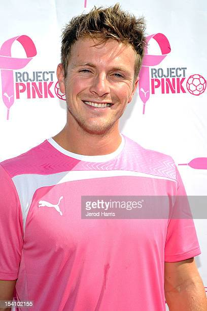 Actor Charlie Bewley arrives at the PUMA Project Pink Celebrity Soccer Match on October 13 2012 in Fullerton California