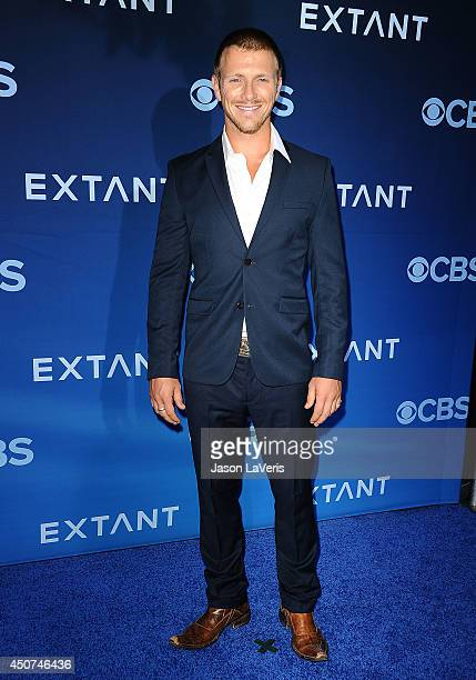Actor Charlie Bewley attends the premiere of Extant at California Science Center on June 16 2014 in Los Angeles California