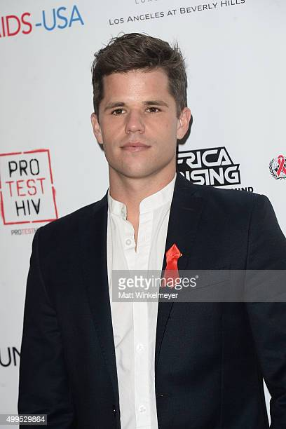 Actor Charlie Carver arrives at the Inaugural World AIDS Day Benefit at Sofitel Hotel on December 1 2015 in Los Angeles California