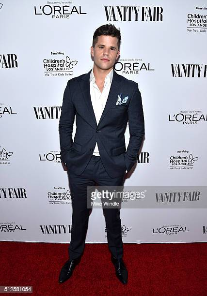 Actor Charlie Carver attends a DJ night hosted by Vanity Fair L'Oreal Paris Hailee Steinfeld at Palihouse Holloway on February 26 2016 in West...
