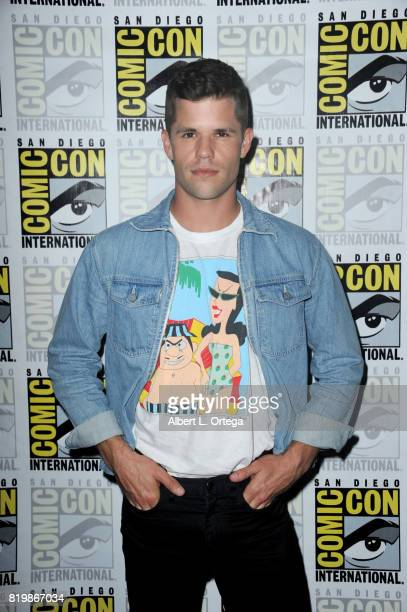 Actor Charlie Carver poses during the 'Teen Wolf' panel during ComicCon International 2017 at San Diego Convention Center on July 20 2017 in San...