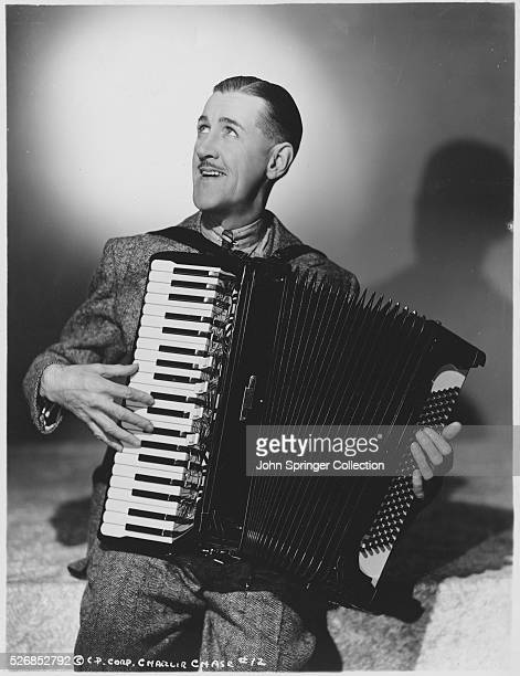 Actor Charlie Chase Playing the Accordion